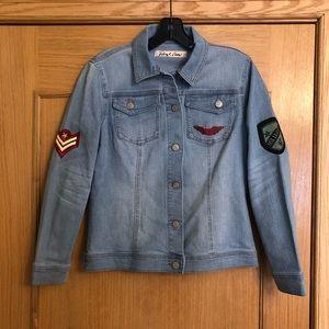 Sheryl Crow Military Style Patches Denim Jacket XS